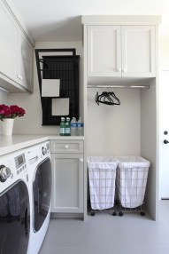Beautiful and functional laundry room design ideas to try 33