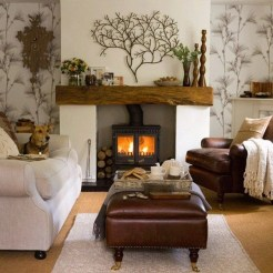 Beautiful fireplace decorating ideas to copy for your own 21