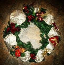 On a budget diy christmas wreath to deck out your door 42