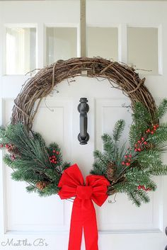 On a budget diy christmas wreath to deck out your door 48