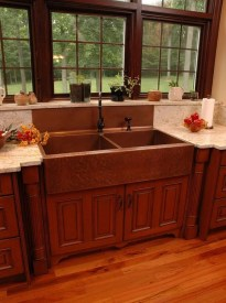 Top farmhouse sink designs for your lovable kitchen 12