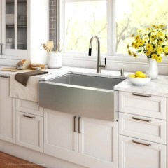 Top farmhouse sink designs for your lovable kitchen 21