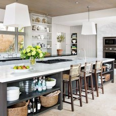 Awesome yet functional kitchen island design ideas 18