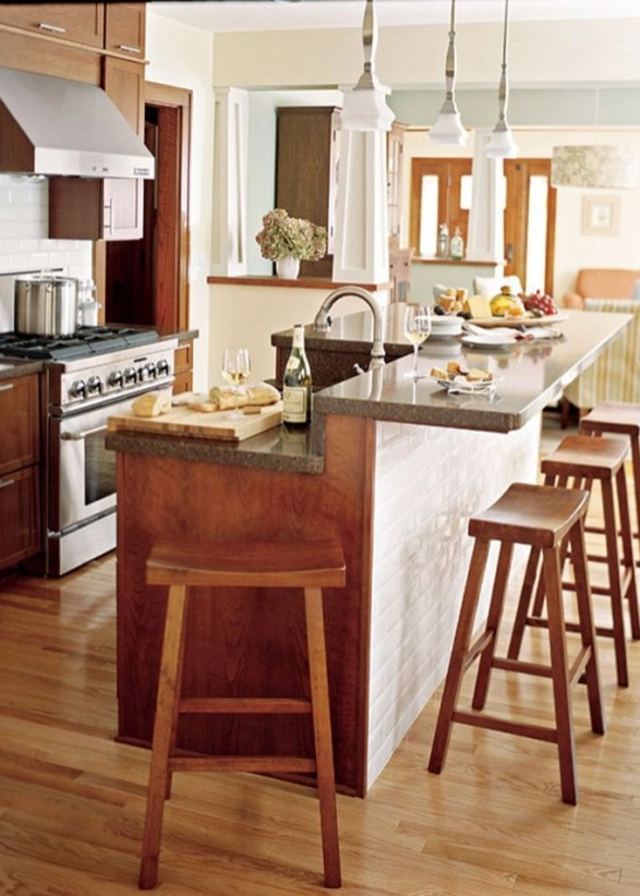 Awesome yet functional kitchen island design ideas 49