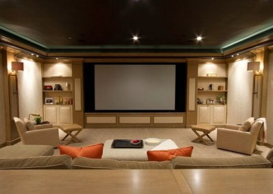 Basement home theater design ideas to enjoy your movie time with family and friends 04