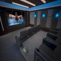 Basement home theater design ideas to enjoy your movie time with family and friends 25