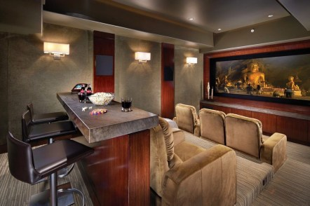 Basement home theater design ideas to enjoy your movie time with family and friends 32