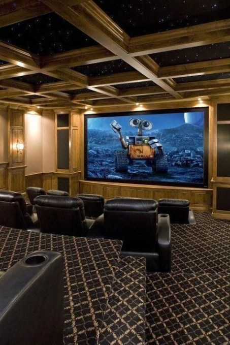 Basement home theater design ideas to enjoy your movie time with family and friends 36