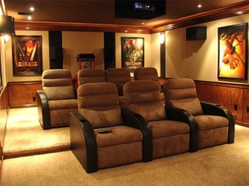 Basement home theater design ideas to enjoy your movie time with family and friends 38