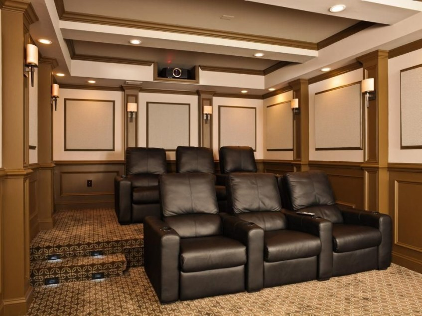 Basement home theater design ideas to enjoy your movie time with family and friends 40