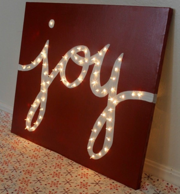 Beautiful diy christmas light decoration ideas 25