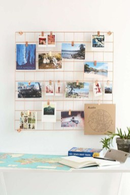 Best diy decor ideas for your home using wire wall grid 14