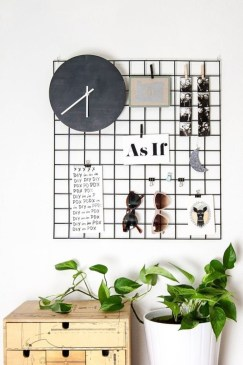 Best diy decor ideas for your home using wire wall grid 20