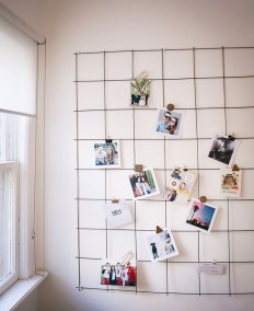 Best diy decor ideas for your home using wire wall grid 33