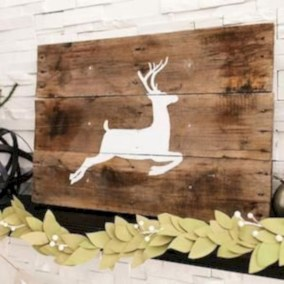 Creative diy rustic christmas decorations with wood 08