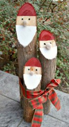 Creative diy rustic christmas decorations with wood 30