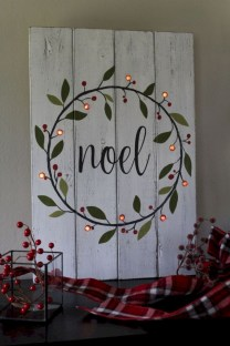 Creative diy rustic christmas decorations with wood 37