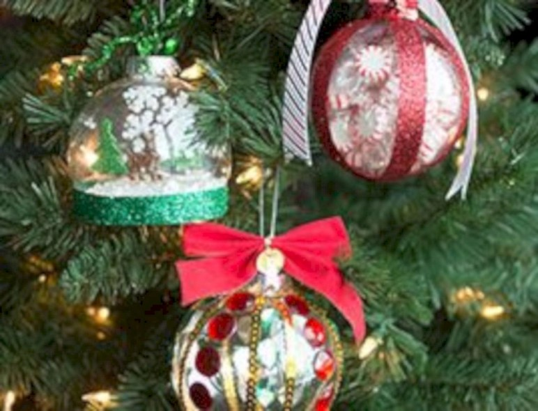 Diy holiday projects using dollar store ornaments 20