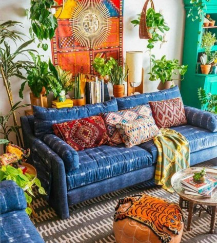 Enthralling bohemian style home decor ideas to inspire you 43