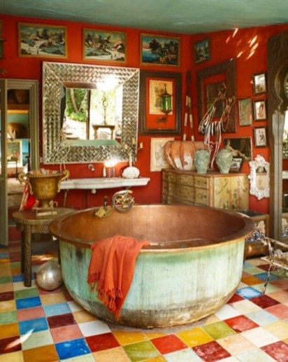 Enthralling bohemian style home decor ideas to inspire you 52