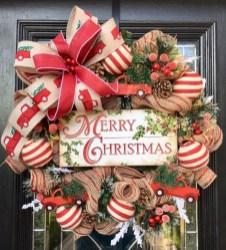 On a budget diy christmas wreath to deck out your door 18