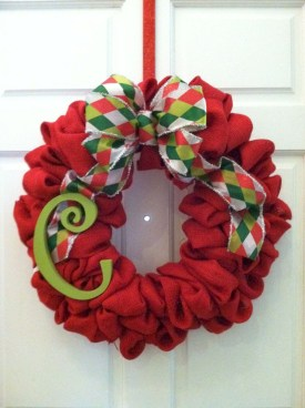 On a budget diy christmas wreath to deck out your door 37