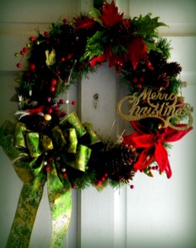 On a budget diy christmas wreath to deck out your door 49