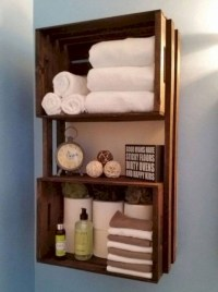 Diy wood crate shelves projects to calm the clutter effectively 06
