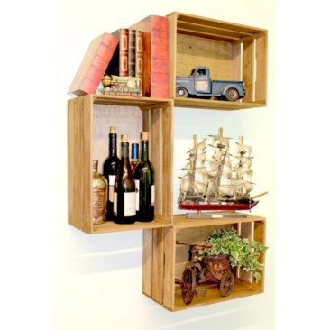 Diy wood crate shelves projects to calm the clutter effectively 07