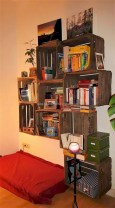 Diy wood crate shelves projects to calm the clutter effectively 08