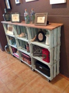 Diy wood crate shelves projects to calm the clutter effectively 10