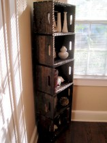 Diy wood crate shelves projects to calm the clutter effectively 11