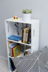 Diy wood crate shelves projects to calm the clutter effectively 12