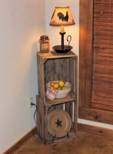 Diy wood crate shelves projects to calm the clutter effectively 14