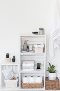 Diy wood crate shelves projects to calm the clutter effectively 21