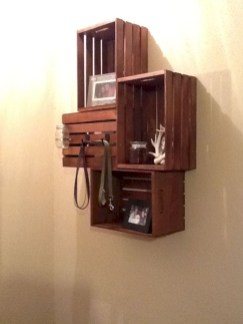Diy wood crate shelves projects to calm the clutter effectively 22
