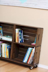 Diy wood crate shelves projects to calm the clutter effectively 42