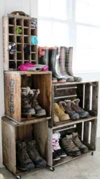 Diy wood crate shelves projects to calm the clutter effectively 45