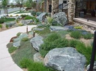 Simple rock garden decor ideas for your backyard 25
