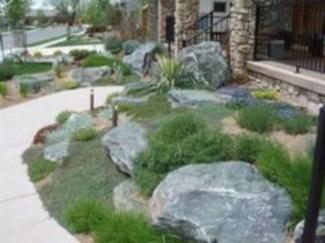 Simple rock garden decor ideas for your backyard 25