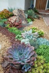 Simple rock garden decor ideas for your backyard 38