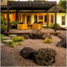 Simple rock garden decor ideas for your backyard 40