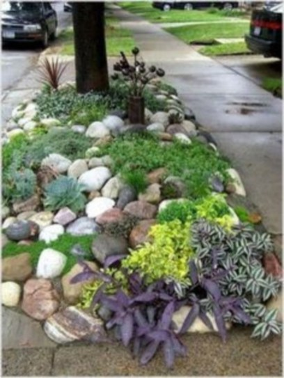 Simple rock garden decor ideas for your backyard 47