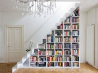 Smart and unusual book's storage ideas for book lovers 01