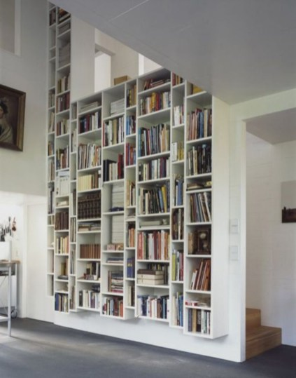 Smart and unusual book's storage ideas for book lovers 09