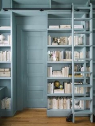 Smart and unusual book's storage ideas for book lovers 16