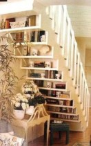 Smart and unusual book's storage ideas for book lovers 30
