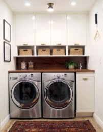 Beautiful and functional small laundry room design ideas 01