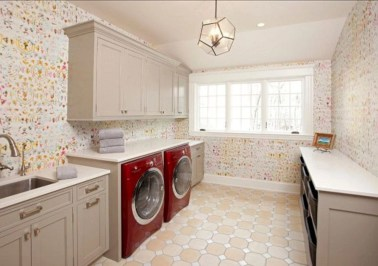 Beautiful and functional small laundry room design ideas 48