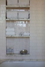 Built-in bathroom shelf and storage ideas to keep your bathroom organized 01